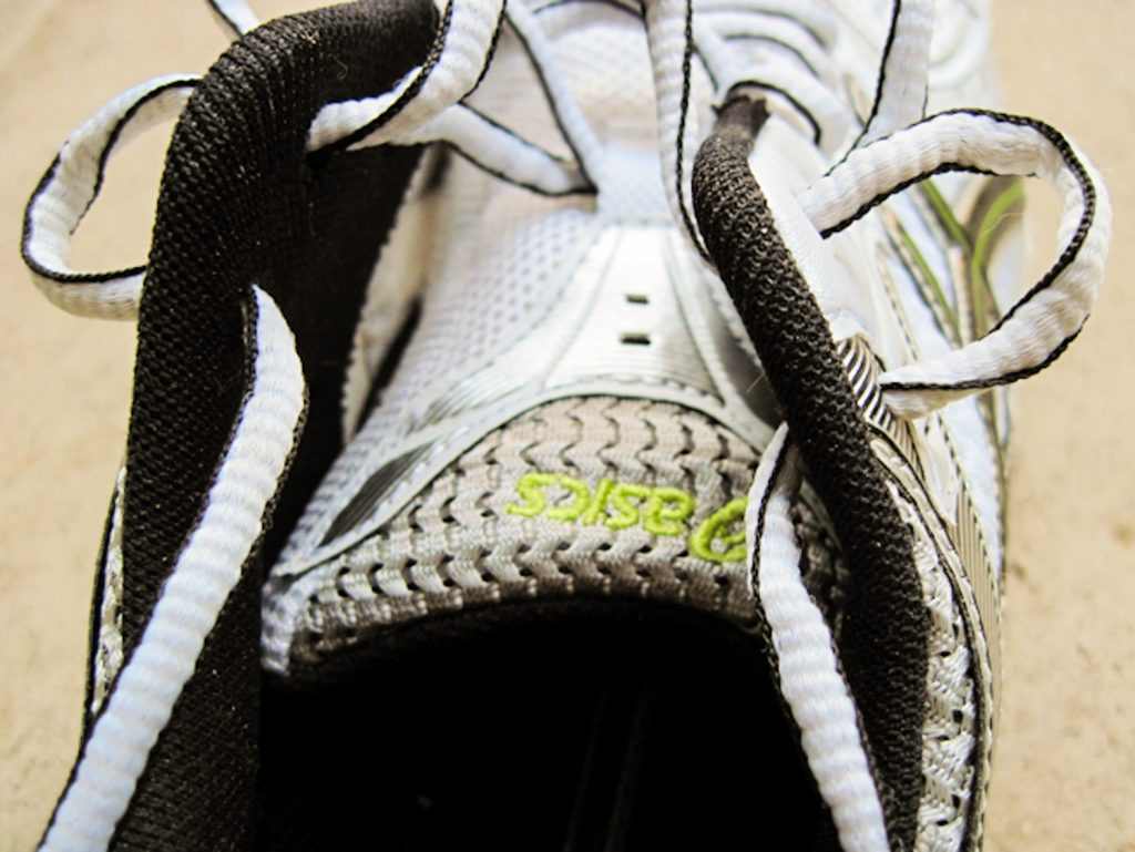 Creating a loop for your running shoes. step 4