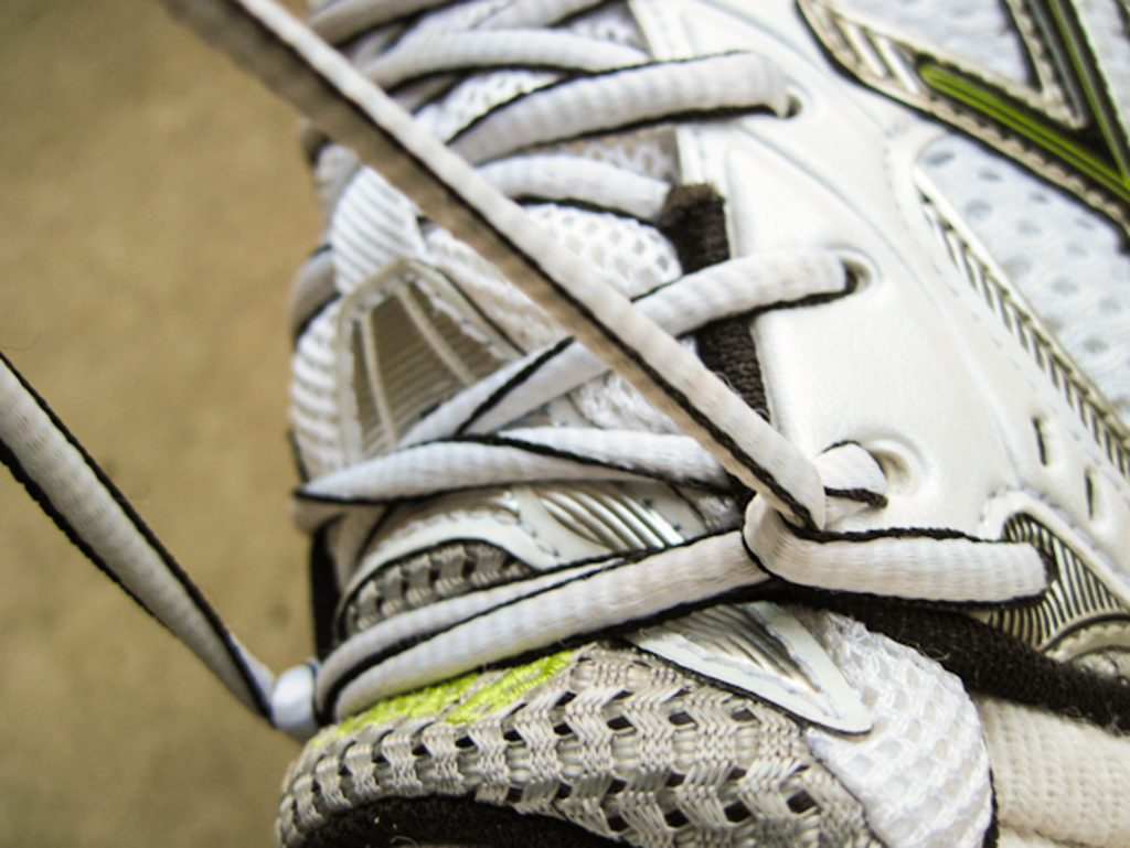 Final step on how to tie your running shoe